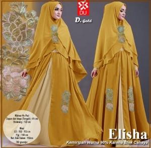 Gamis Pesta Elisha-1 Bahan Kombinasi Spandex Jersey Princess