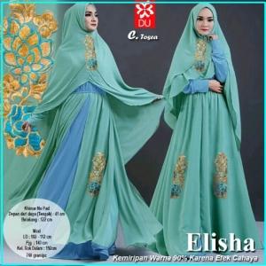 Gamis Pesta Elisha-5 Bahan Kombinasi Spandex Jersey Princess