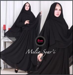 Gamis Premium Elegan Bahan Crepe Melia Syar'i