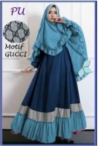 Baju Gamis CAntik Dan Murah Bahan Jersey Jaeya Syar'i