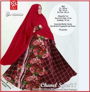 Baju Gamis Cantik Terbaru Bahan Baloteli Chanel Syar'i Maroon Busui
