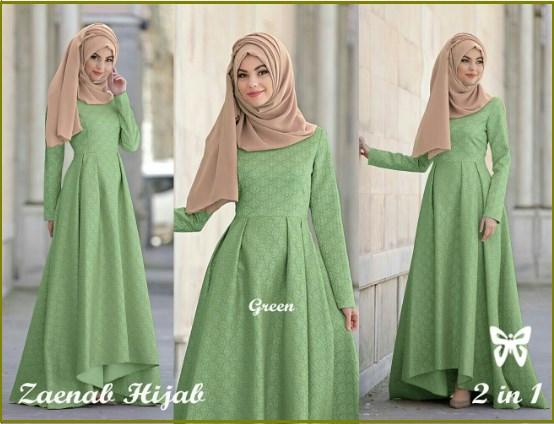 Www Butik Baju Hijab Pesta Com Jual Olivia Dress Bahan