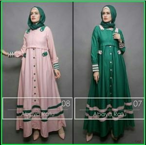 Busana Muslim Terbaru Abaya Ratu Bahan Balote;i