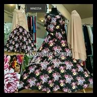 Baju Gamis Bahan Katun Rayon Cantik Rosaline Syar'i