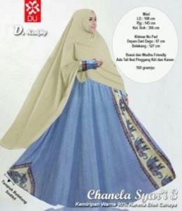 Baju Gamis Katun Bangkok Chanela syar'i Khaky