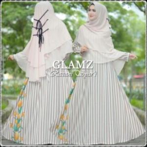 Baju Gamis Terbaru Modis Bahan Bubble Pop Razani Syar'i-b