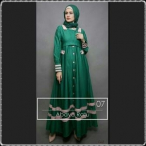 Baju Muslim Wanita Anggun Bahan Baloteli Abaya-3