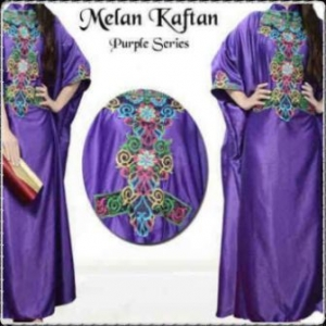 Busana Muslim Modern Dengan Model Kaftan Melan-f