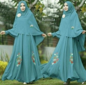 Gamis Syar'i Bahan Wolly Crepe Karmila Syar'i Turkish