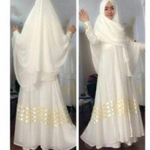 Gamis Syar'i Cantik Dengan Bahan Spandex Ayuna Syar'i White