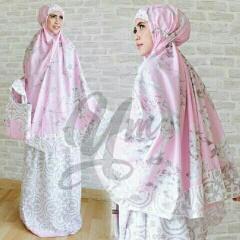 Mukena Katun Jepang Camelia Pink Cantik Murah