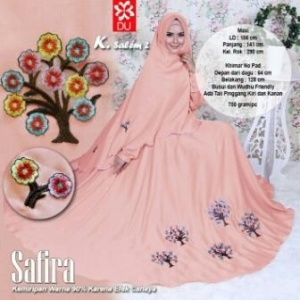 Baju Gamis Cantik Dan Modis Bahan Woolpeach Safira Syar'i Salem