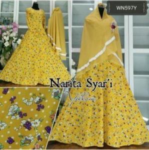 Baju Muslim Wanita Bahan Maxmara Narita Syar'i