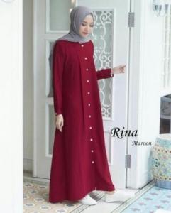 Baju Muslim Wanita Modis Rina-3 Maroon Ukuran Kecil