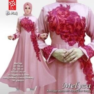 Baju Muslim Wanita UNtuk Pesta Meliza Pink