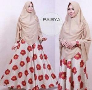 Busana Muslim Terbaru Syar'i Bahan Maxmara Lux Raisya Syar'i Cream
