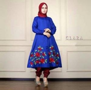 Busana Muslim Trendy Keluaran Terbaru Bahan Balotelli Clara Set Benhur