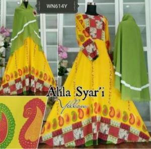 Busana Muslim Untuk Pesta Bahan Ceruty Alila Syar'i-2