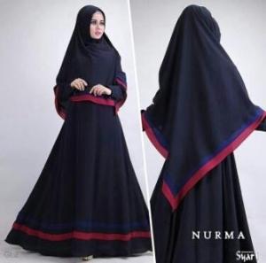 Gamis Busui Murah Bahan Crepe Nurma Syar'i Black