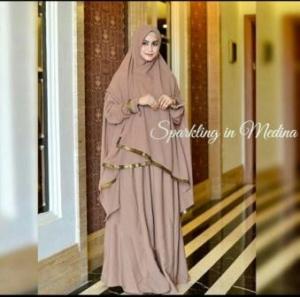 Gamis Muslimah Busui Bahan Wolly Crepe Medina Syar'i