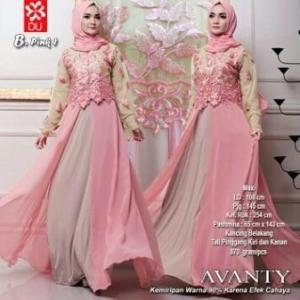 Gamis Pesta Kombinasi Bahan Spandex Jersey Princess Avanty Syar'i