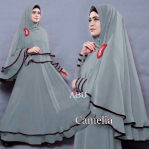 Gamis Syar'i Ukuran Kecil Camelia Abu