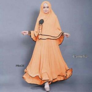 Gamis Syar'i Ukuran Kecil Camelia Peach