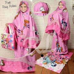 Jual Mukena Anak Pony Pink Tua Cantik