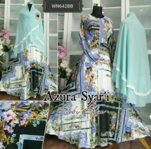 Baju Gamis Katun Syar'i Muslimah Azura Syar'i-1