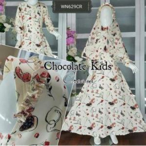 Baju Muslim Anak Bahan Maxmara Chocolate Kids