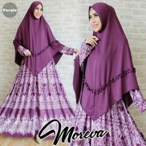 Gamis Moreva Syar'i Purple Dengan Bahan Jersey