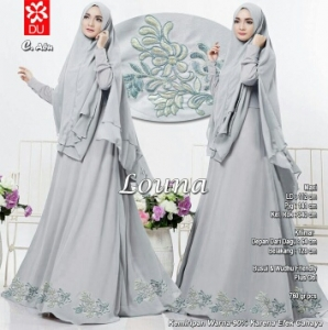 Baju Gamis Terbaru Dan Elegan Louna Syar'i Abu