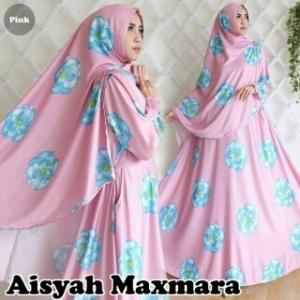 Baju Gamis Terbaru Untuk Lebaran Aisyah Syar'i Pink Bahan Maxmara