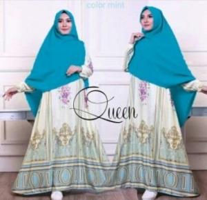 Baju Gamis Terbaru queen Tosca Bahan Maxmara Lux