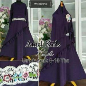Baju Muslim Anak Cantik Amel Kids Navy