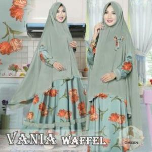 Baju Muslim Dengan Ukuran Besar Vania-2 Bahan Wafel Jaquard