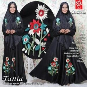 Busana Muslim Lebaran 2017 Tania Syar'i Hitam