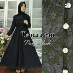 Busana Muslim Pesta Ukuran Kecil Tamara 3 In 1 warna Hitam Bahan Brukat Terbaru