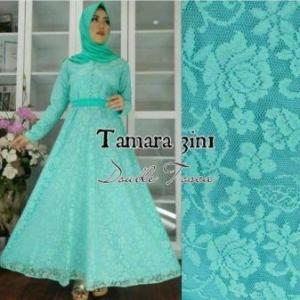 Busana Muslim Pesta Ukuran Kecil Tamara 3 In 1 warna Tosca Bahan Brukat Terbaru