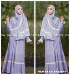 Gamis Murah Cantik Fatinah Syar'i-1 Terbaru Bahan Spandex Korea