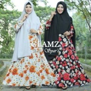 Gamis Murah Orlin Syar'i-1 Bahan Bubble Pop