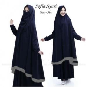 Gamis Sofia Syar'i-1 Terbaru Online Bahan Wafel