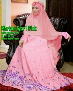 Gamis Terbaru Modis Mariam Syar'i Pink Bahan Bubble Pop