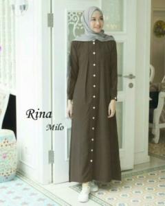 Busana Muslim Modern Manis Ukuran Kecil Rina warna Milo Bahan Baloteli