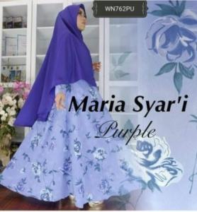 Busana Muslim Terbaru Modis Maria Syar'i Bahan Woolpeach