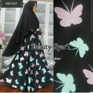 Gamis Jersey Beauty-2 Syar'i Trendy