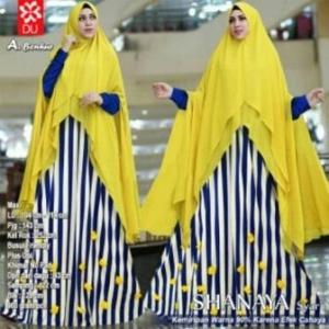 Baju Gamis Terbaru Anggun Shanaya Syar'i Warna Benhur Bahan Spandex