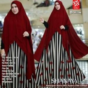 Baju Gamis Terbaru Anggun Shanaya Syar'i Warna Hitam Bahan Spandex