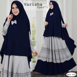 Baju Muslim Wanita Syar'i Bahan Maxmara Laips Furing Varisha Syar'i