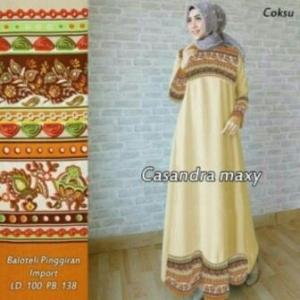 Busana Muslim Modern Ukuran Keicil Casandra Warna Mustard Bahan Baloteli